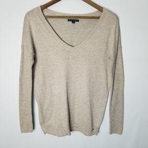 American Eagle Side Slit V-Neck Pullover Sweater